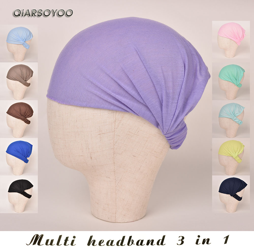 Detail Feedback Questions about Women Wide Headband Solid Boho Yoga Style  Soft Hairband For Sports or Fashion 3 IN ONE on Aliexpress.com  c2cfaafd9730