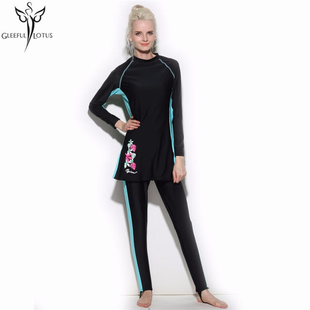 e6cdad108e4 islamic modest Muslim swimsuits pakistani swimwear muslim fashion for Women  wear adult Arab Beach Wear high waist hijabs clothes