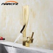 المطبخ صنبور مربع تصميم الحمام ماتي الأسود بالوعة صنبور حوض خلاط شلال المرحاض الذهبي الساخن Cold خلاط مياه الحنفية XT 188
