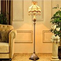 Resin Fabric Lampshade Floor Lamp Led E27 110V 220V European Style Modern Floor Lamps For Living