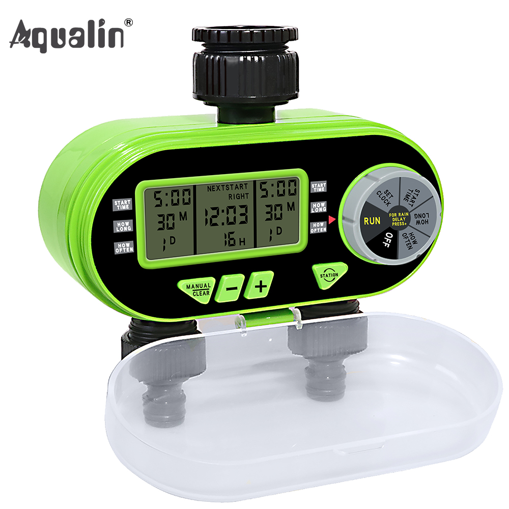 New Arrival Two Outlet Garden Digital Electronic Water Timer Solenoid Valve Garden Irrigation Controller for Garden,Yard#21060 marina sport by marina rinaldi повседневные брюки