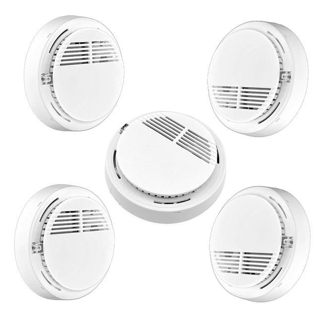 5pcs 433mhz Sensor Sensitive Photoelectric Home Security System Cordless Wireless Smoke Detector Fire Alarm for Home Protection