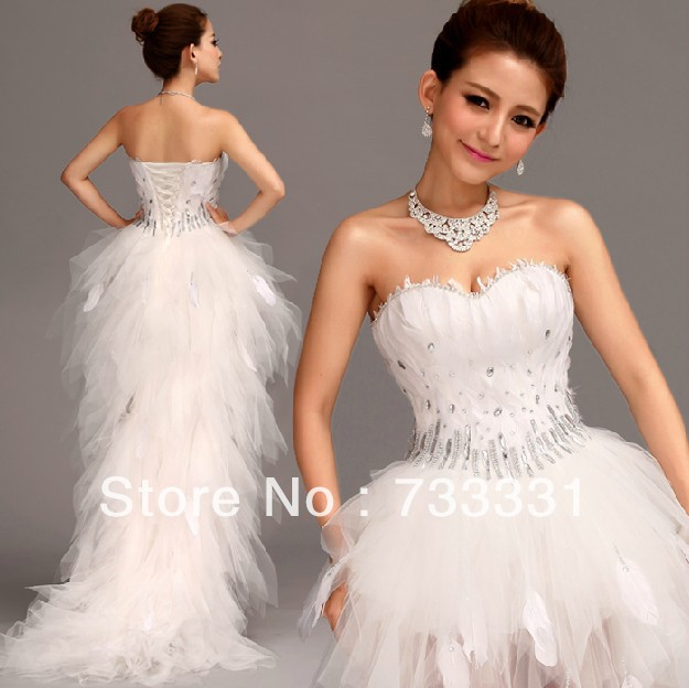 Diaphanous Crystal Beaded Sweetheart Empire Corset Short Front ...