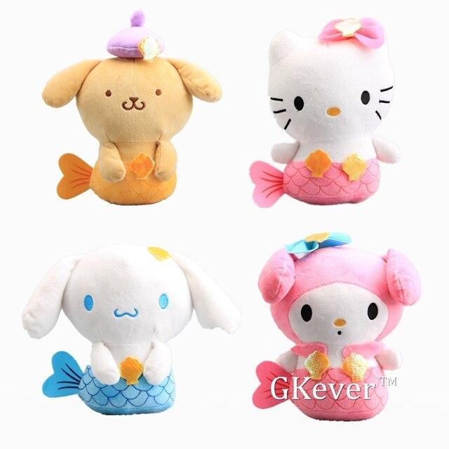 0dc659333 Anime 4 Pcs/Set Cute Hello Kitty My Melody Purin Dog Cinnamoroll Cosplay Mermaid  Ariel