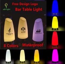 Table Lamp Light Customized Logo QR Code Cute Bar Desk Led Lamp Dinner Bar Disco Tender Restaurant Shop Food Business Eating
