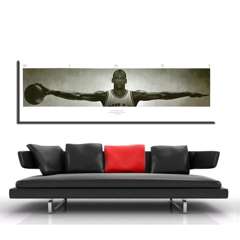xdr373 Michael Jordan WINGS MJ 23 Basketball Poster Print 3 Size Poster And Prints For Home Decorate Unframed