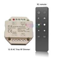 S1-B 2.4 GHz RF אלחוטי מרחוק R1 מתח כניסה 100-240VAC; פלט 100-240VAC 1A לדחוף מתג דימר טריאק Led דימר בקר