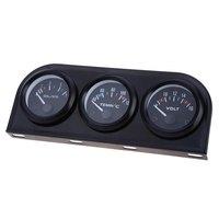 Precisión B734 52 MM 3 in1 Coche Auto Gauge Voltímetro Temperatura del Agua Sensor De Presión De Aceite Kit de Triple con Mayor Precisión
