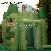 Новейшие предназначен надувные шампунь booth, гель для душа палатка для выставки и реклама