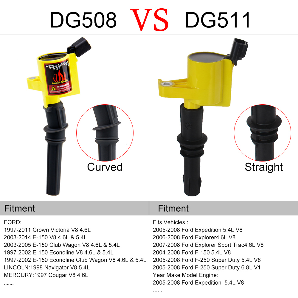 Super High Energy Ignition Coil for Ford F150 E150 E350 Crown Victoria Expedition Mustang 4.6L 5.4L 6.8L V8 DG508 C1454