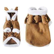 Pet Dog Jumpsuits Deer Costume Pet Products Puppy Teddy Christmas Cosplay Winter Clothing Hoodie Jumpsuit
