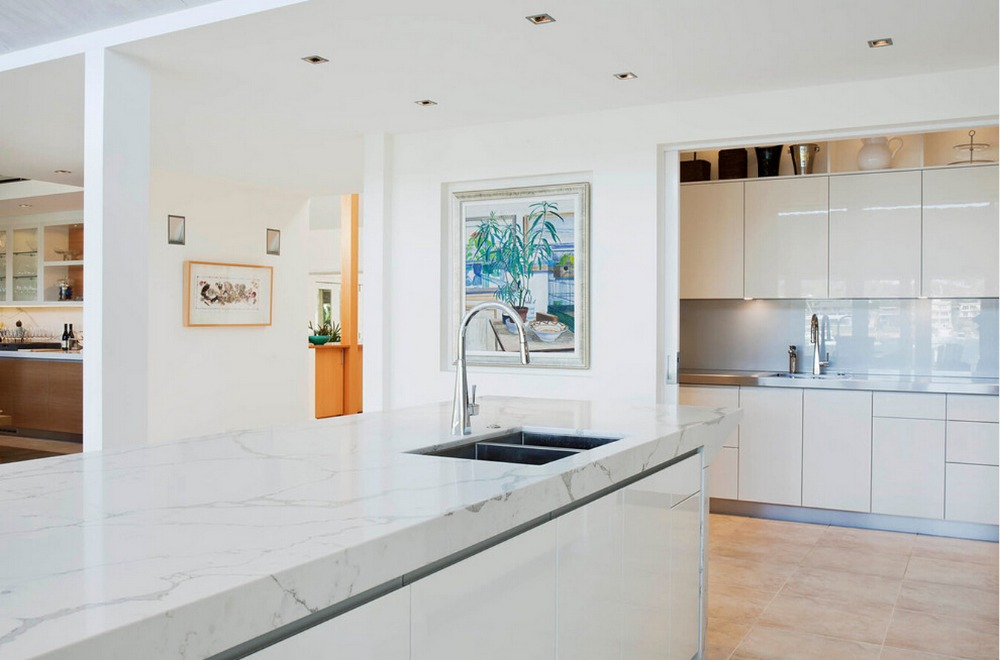 2017 Modern High Gloss White Lacquer Kitchen Cabinets With