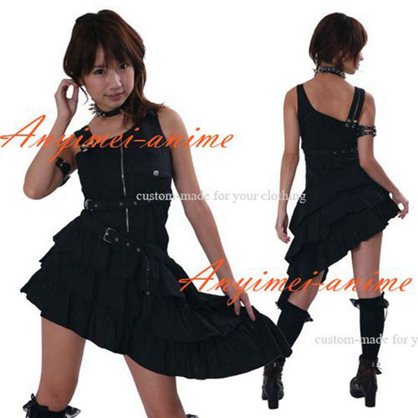 Gothic Lolita Punk Fashion Outfit Dress Cosplay Costume Tailor-made[CK1038]