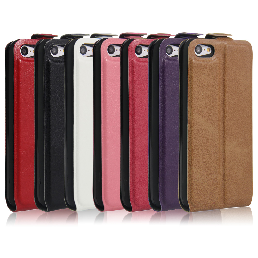 low priced 1ac53 9c451 Luxury PU Leather Case Fundas Flip Cover For Apple Iphone 5C Credit Card  Slot Cell Phone Shell Full Protective Bag Skin Coque-in Flip Cases from ...