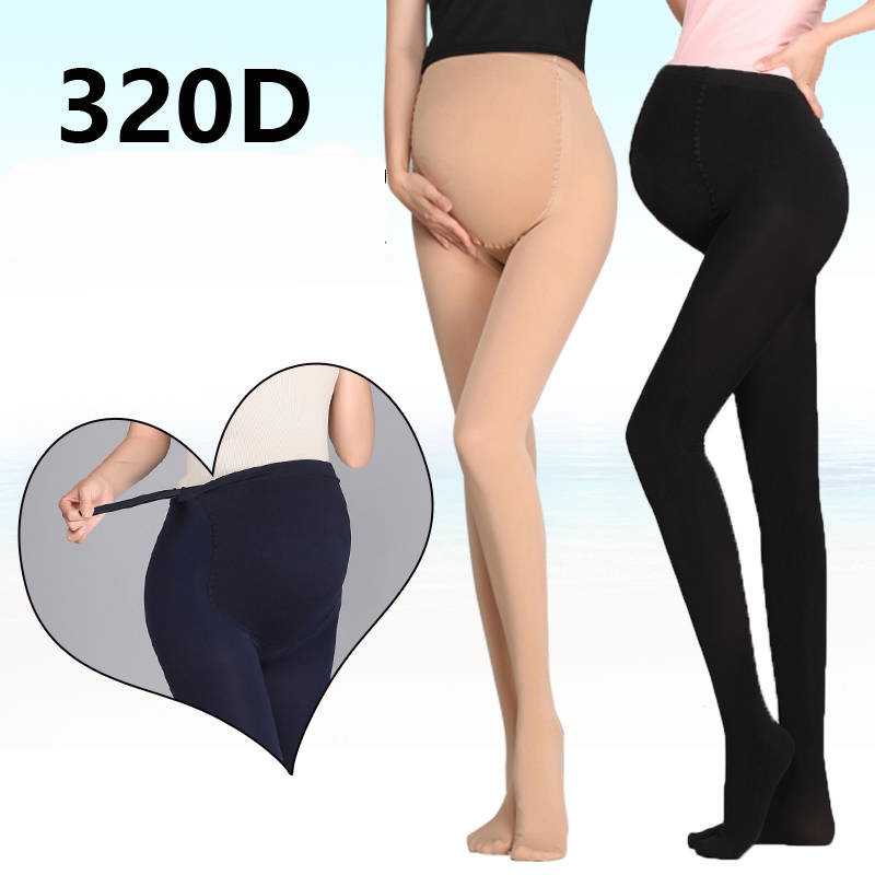 320D Women Pregnant Socks Maternity Hosiery Solid Stockings Tights Pantyhose Spring And Autumn Pregnant Women Stockings