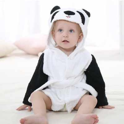 Детский банный халат с изображением животных, с капюшоном, Детские пляжные полотенца/Детские и Todderl