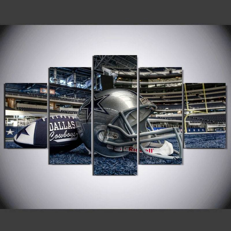 Modern Wall Art Home Decor Painting 5 Piece No Frame Dallas Cowboys Football Helmet Pictures For Drawing Room Canvas Print drop