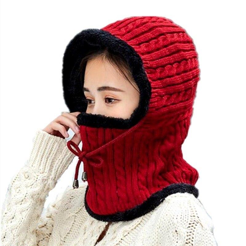 oZyc  New Winter Knitted Hat Scarf Women Skullies Beanies Winter Hats For Women Men Warm Mask Thick Girl Female Cap Beanie Hat