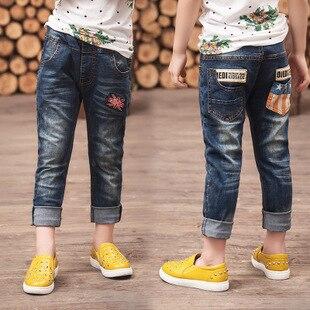 2017 Neue Hochwertige Herbst Kinder Hosen Jungen Mädchen Baby Jeans Kinder Jeans Für Jungen Casual Denim Hosen 3-14y Kleinkind Kleidung