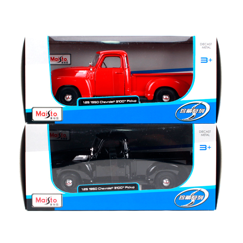 Maisto 1 25 1950 Chevrolet 3100 PICKUP Vintage cars Diecast Model Car Toy New In Box Free Shipping NEW ARRIVAL 31952 in Diecasts Toy Vehicles from Toys Hobbies