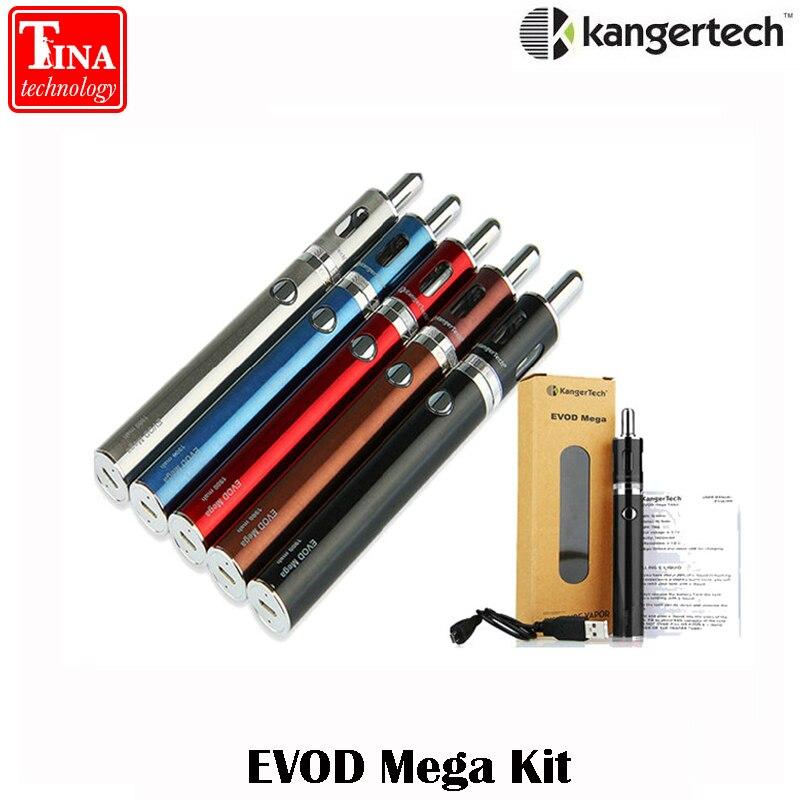 Originale kangertech Evod Kit Mega 2.5 ml e 1900 mah Evod Batteria con Cavo Micro USB Mega Sigaretta Elettronica Starter kit