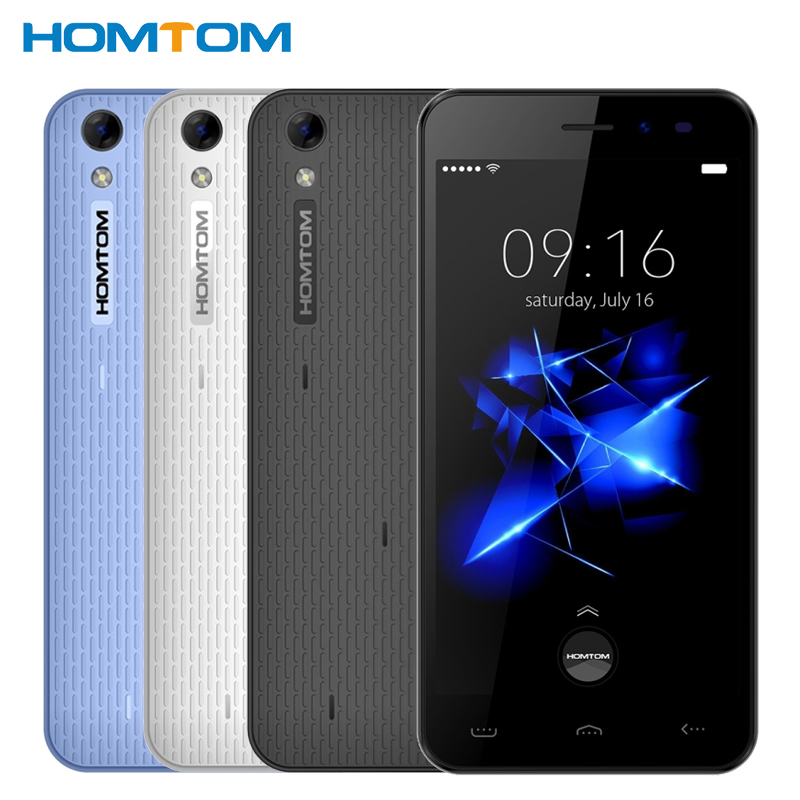 Original Homtom HT16 Pro Cell Phone 2G RAM 16G ROM MTK6737 Quad Core 5.0 Inch Android 6.0 3000mAh 13.0MP Unlock 4G Smartphone