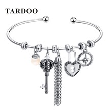 Tardoo New Hot Authentic 925 Sterling Silver DIY Bangles &Bracelets for Women Trendy Many Elements Charms Bangles Fine Jewelry
