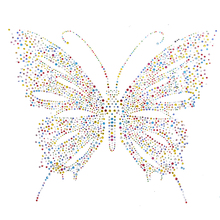 1PC Fancy Embellishment Colorful Transfer Butterfly Design Rhinestone Motif  Hotfix Iron Sewing on Patches For Sweater 26c053282747
