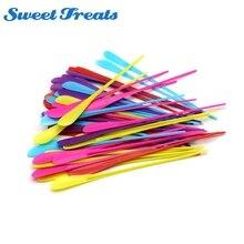 Подсластки для овощей и фруктов жареные палочки красочные палочки для барбекю с пластиковыми инструментами для барбекю-для детей-безопасные для детей