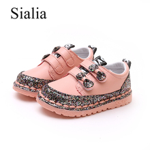 Sialia Princess Kids Shoes For Girls Sneakers Leather Shoes For Party Baby Children  Shoe Outdoor Glitter 3a8e34b69ddb