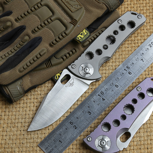 STEDEMON DSM folding knife S35VN blade KVT ball bearing Titanium handle camping hunting outdoor Survival pocket knives EDC tool