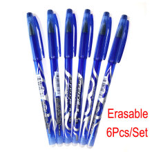 DELVTCH 6pcs/set 0.5mm Erasable Pen Blue/Black/Red refill Gel 3 Colors Avaliable for Childrens Gift Office Student
