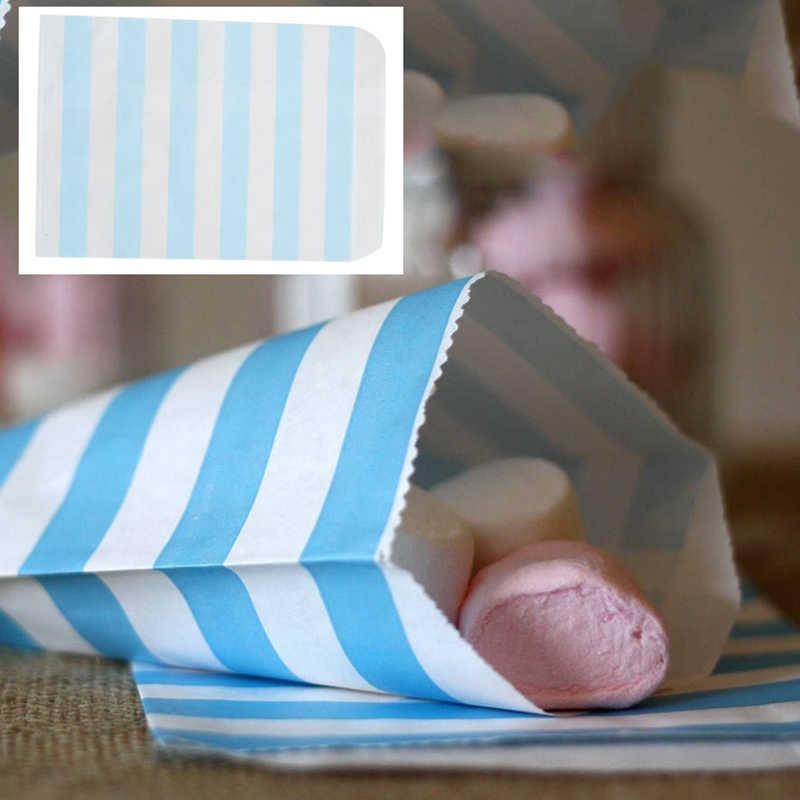12 chiếc 13x19CM DIY Candy Sọc Túi Giấy Ngọt Favour Buffet Tặng Shop Đảng Đồ Ngọt Bánh Cưới đồ trang trí Quà Tặng Giáng Sinh