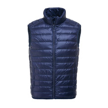 Brand 90% Duck Down Vest Ultra Light Duck Down Waistcoat  Sleeveless Jacket autumn Winter Coat J0029
