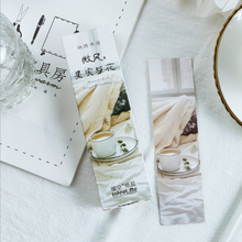 30pcs/pack Student diary Bookmark Creative Stationery Cartoon Promotional Gift message card Paper Bookmarks