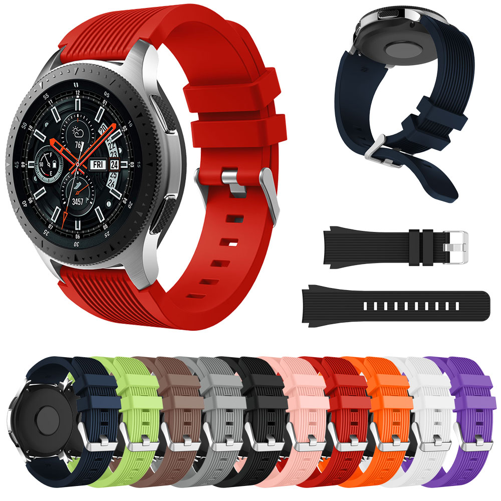 Silicone Wrist Band Strap For Samsung Galaxy Watch 46mm SM-R800 Galaxy Watch 42mm SM-R810 Smart Watch Band Wristband