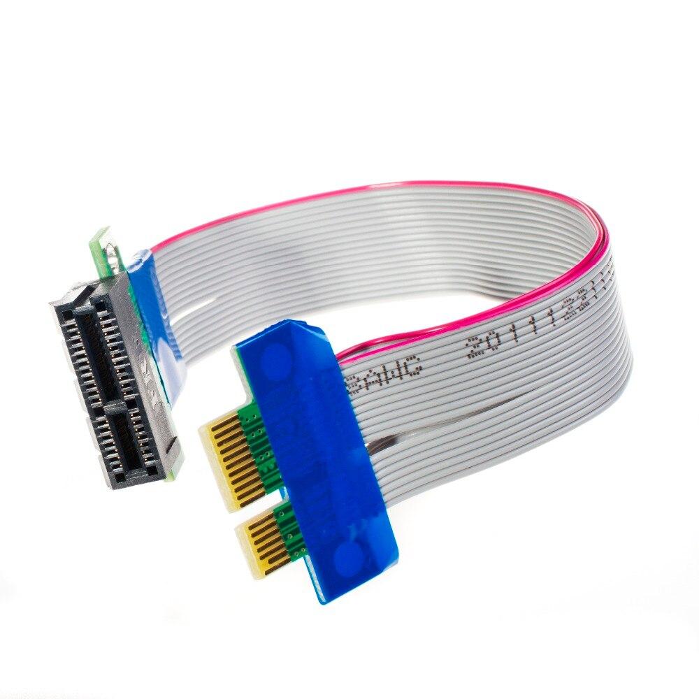 PCI-E 1X à 1X X1 Riser Card Slot D'extension PCIe Extension Ruban Flex Déménagement Câble pour Bitcoin Mining Livraison Gratuite