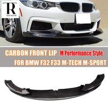 цена на F32 F33 F36 Carbon Fiber Front Bumper Lip Spoiler for BMW F32 F33 F36 420i 428d 435d 420d 428d 435d M-tech M-Sport Bumper