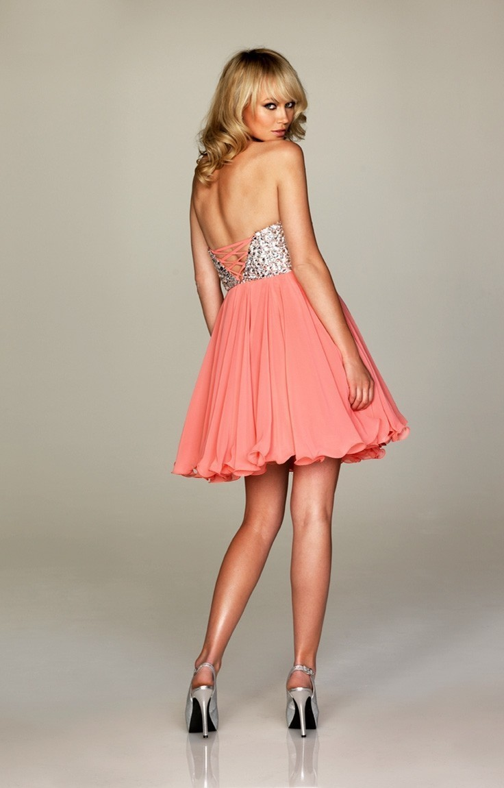 d32d201de37 Cheap Sweet Sweetheart Chiffon Short Prom Dresses Cocktail Party Gowns Size  0 18-in Homecoming Dresses from Weddings   Events on Aliexpress.com