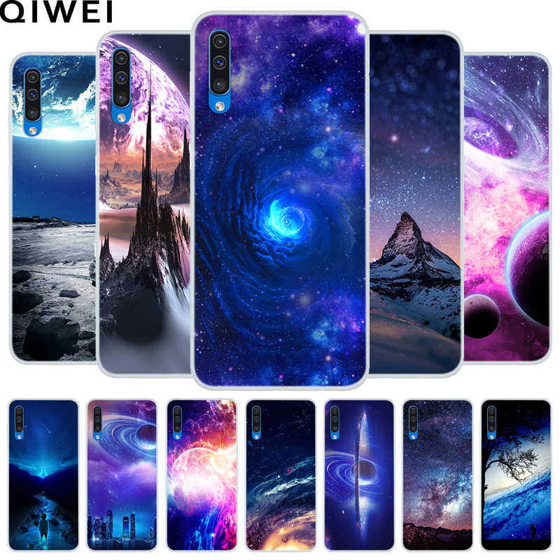 For Samsung Galaxy A50 Case Slim Cool Space Print silicone Soft TPU Back cover For Samsung A50 A 50 A505 Phone cases Funda Coque