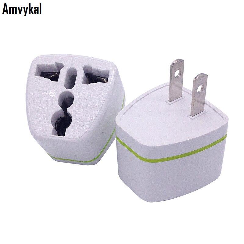 Amvykal CE ROHS Universal 2 Pins USA Travel Electrical Plug Adaptor UK AU EU To US Plug Adapter Socket Converter 500 Pcs/lot