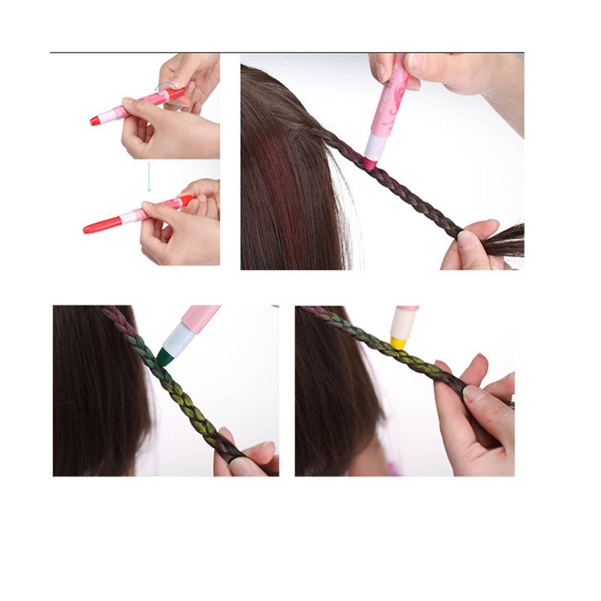 2017 Brown Joyous One-time Wax Cover Hair Highlights Gradient Pen Cover White Hair Pen h ...