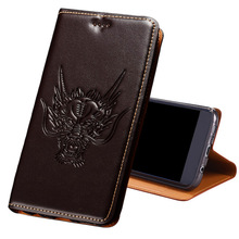 CJ03 Genuine leather flip case with card holder for Huawei P20(5.8) phone P20 cover