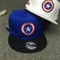 2016 New Superhero Captain America Baseball Cap Flat Hat For Men Women Summer Casual Gorras Snapback Hip-Hop Caps Casquette