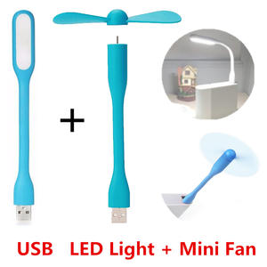 Mini Fan Lamp Notebook Computer Usb-Fan Power-Bank Led-Light Summer Gadget Creative Flexible