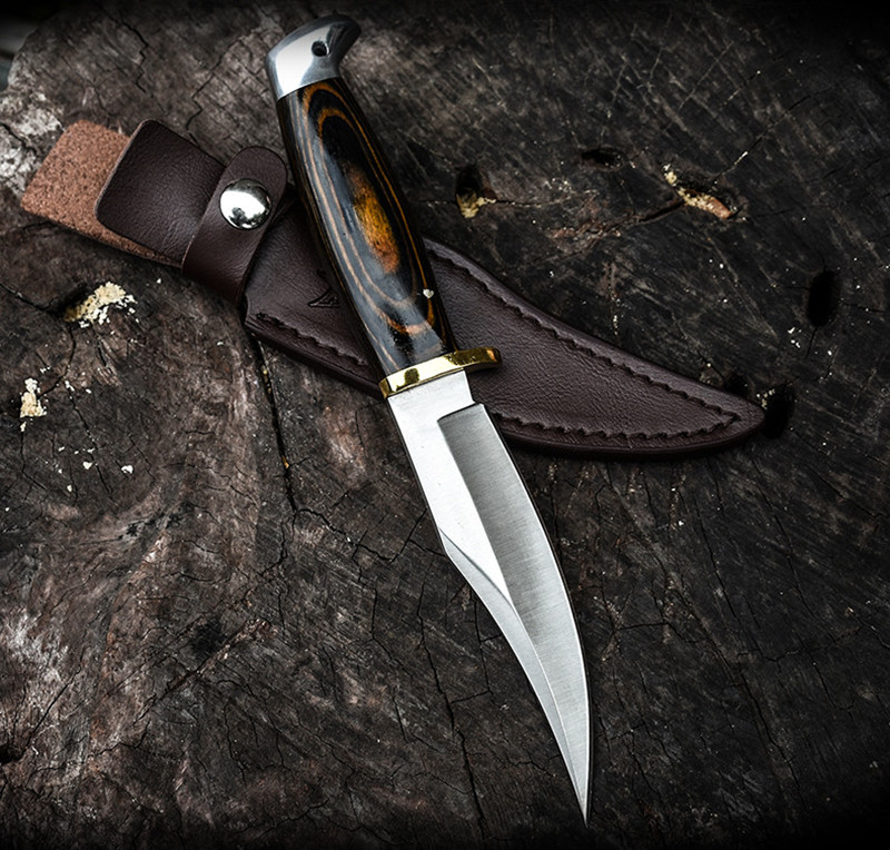 HOT! Tactical Knife Army Fixed Blade Hunting Rambo knives Wood Handle Military Combat Self Defense Knifess Camp EDC High Quality(China)