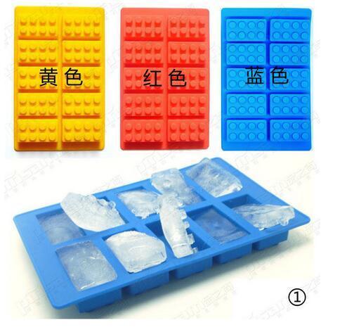 Mini figura de Lego con agujeros para herramientas de pastel YONGHAO, bandeja con molde para cubitos de hielo, pastel de Chocolate, gelatina, gelatina, moldes de silicona para Fondant N543