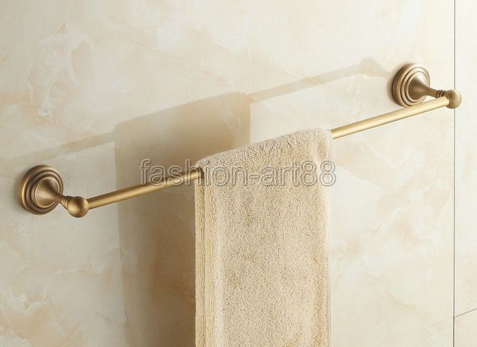ФОТО Antique Brass Bathroom Accessory Wall Mounted Single Towel Bar Towel Rail Rack Holder Bathroom Fitting aba032