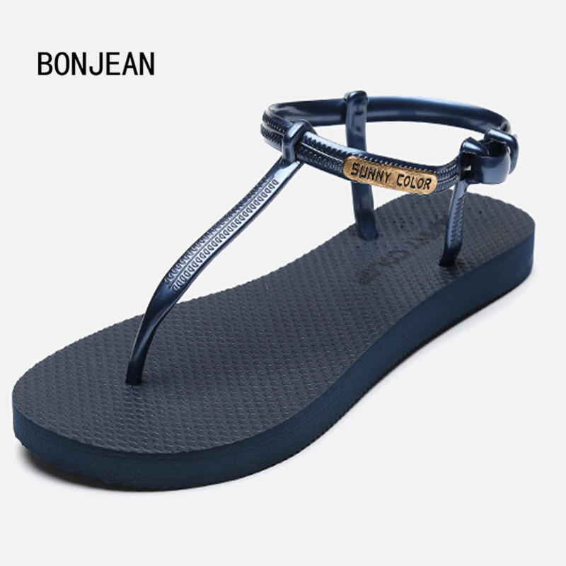Women Sandals Candy Color Jelly Shoes Flats Leisure Beach Shoes Summer Gladiator Transparent Sandals 12 Style Plus Size 35-39 free shipping candy color jelly sandals new plastic chain beach shoes chain flat bottomed out sandals lace up chains women shoes