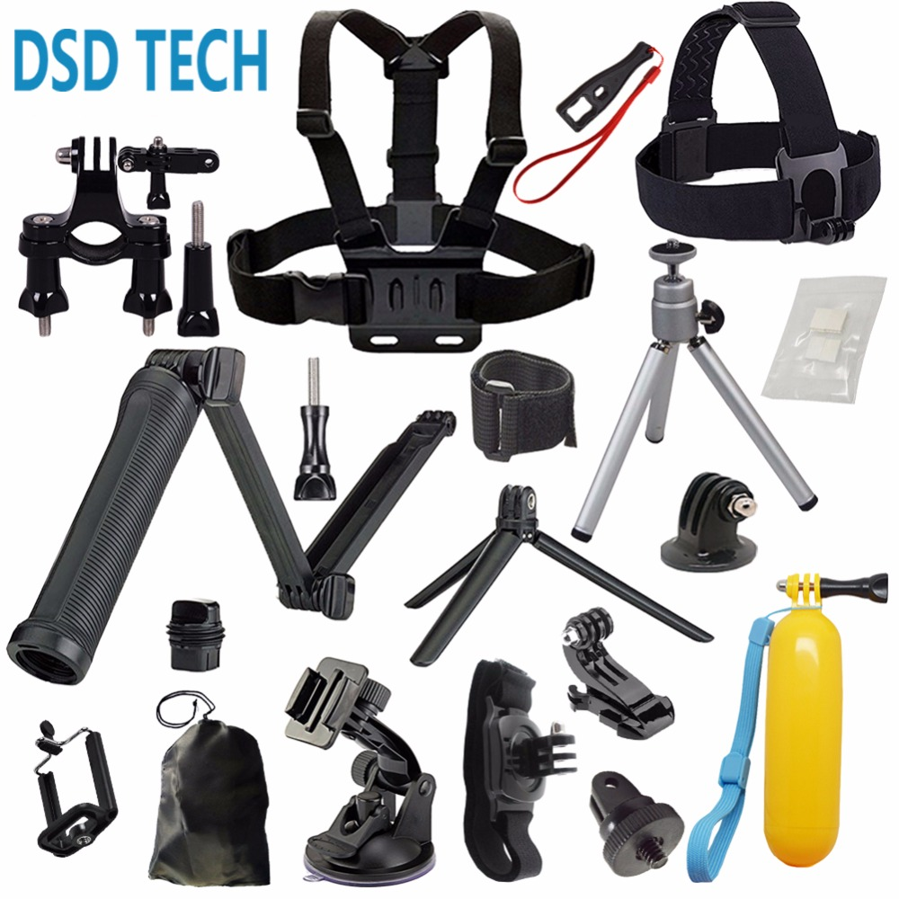 DSD TECH for GoPro 3 way grip arm stick chesty gopro mount kit for hero6 5